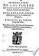 Las flores de poetas illustres de Espanna