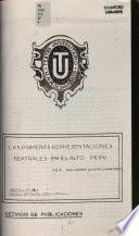 Las primeras representaciones teatrelaes en el Alto Perú