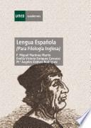 Lengua española (para filología inglesa)