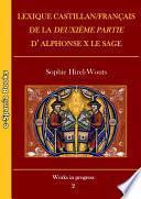 Lexique castillan/français de la Deuxième partie d'Alphonse X le Sage