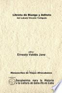Libreta de Biange y Aditoto. Del Lukumí Vicente Yoitigado