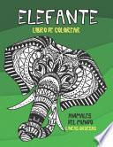 Libro de colorear - Líneas gruesas - Animales del mundo - Elefante