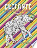 Libro de colorear Mandala - Letra grande - Animales - Elefante