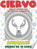 Libro de colorear para adultos para adolescentes - Menos de 10 euro - Animales - Ciervo