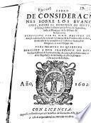 Libro de consideraciones sobre los Euangelios