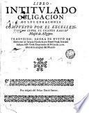 Libro intitulado obligación de los cora—cones