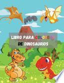 Libro para colorear de dinosaurios