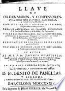 Llave de Ordenandos y confessores...