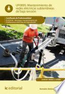 Mantenimiento de redes eléctricas subterráneas de baja tensión. ELEE0109