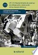 Mantenimiento de sistemas de refrigeración y lubricación de los motores térmicos : mantenimiento del motor y sus sistemas auxiliares