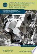 Mantenimiento de sistemas de refrigeración y lubricación de los motores térmicos. TMVG0409