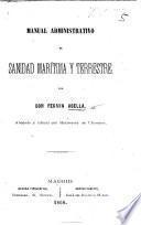 Manual administrativo de sanidad marítima y terrestre