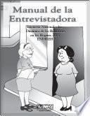 Manual de la entrevistadora. Encuesta Nacional sobre Dinámica de las Relaciones en los Hogares 2003. ENDIREH