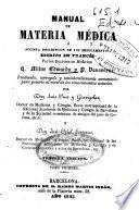 Manual de materia médica o sucinta descripción de los medicamentos