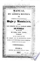 Manual en lengua mixteca de ambos dialectos bajo y montañez