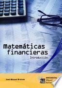 Matemáticas Financieras. Introducción