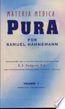 materia medica pura, vol. 1