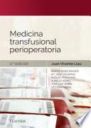 Medicina Transfusional Perioperatoria