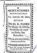 Meditaciones devotissimas del amor de Dios