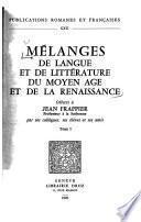 Melanges Offerts a Jean Frappier