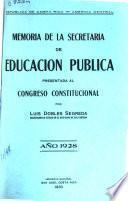 Memoria de la Secretaría de Educación Pública
