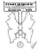Memoria - Seminario Universitario sobre Problemas de la Comunidad del Estado de Nuevo León