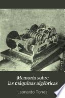 Memoria sobre las máquinas algébricas