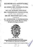 Memorial ajustado, hecho de orden del consejo-pleno ... sobre el contenido y expresiones de diferentes Cartas del Rev. Obispo de Cuenca D. Isidro de Carbajal y Lancaster