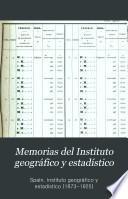 Memorias del Instituto geográfico y estadístico