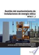 MF0617_3 - Gestión del mantenimiento de instalaciones de energía eólica