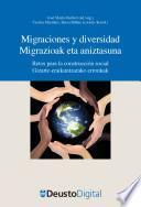 Migraciones y diversidad / Migrazioak eta aniztasuna