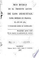 Mis dudas en el presente asunto de los jesuitas