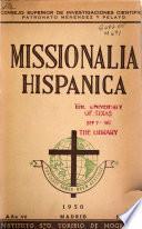 Missionalia hispánica