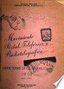 Movimiento postal, telefónico y radiotelegráfico