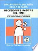NECESIDADES BÁSICAS DEL NIÑO SALUD MENTAL DEL NIÑO DE 0 A 12 AÑOS Módulo 2