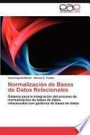 Normalización de Bases de Datos Relacionales