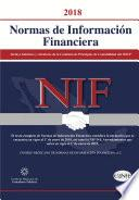 Normas de Información Financiera 2018