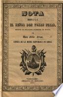 Nota dirigida a S. G. ... Don F. Frias, ministro de relaciones esteriores de Bolivia, por Don F. F. Cónsul de la misma República en Chile