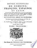 Nouveau dictionnaire de Sobrino, français, espagnol et latin