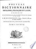 Nouveau dictionnaire espagnol-françois et latin