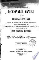 Novisimo diccionario manual de la lengua castellana