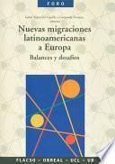 Nuevas migraciones latinoamericanas a Europa