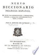 Nuevo diccionario francés-español