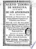 Nuevo tesoro de medicina sacado de los aphorismos de la charidad