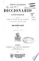 Nuevo Valbuena o diccionario latino-español