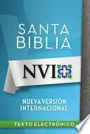 NVI Santa Biblia con letra negra