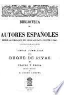 Obras completas del Duque de Rivas: Teatro y prosa