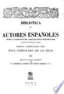 Obras completas del Inca Garcilaso de la Vega