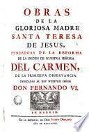 Obras de la Gloriosa Madre Santa Teresa de Jesus, 2