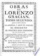 Obras de Lorenzo Gracian, 2